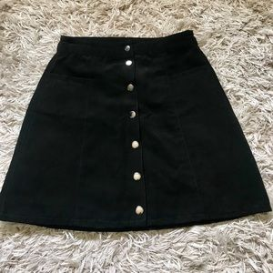 Black buttoned up skirt